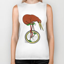 Kiwi Riding A Unicycle Biker Tank