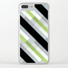 PRIDE - Agender Clear iPhone Case