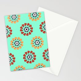 Modern Colorful Flowers Stationery Cards