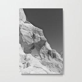 Desert Window, Black and White Metal Print