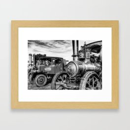 Steam Lorry And Traction Engine Framed Art Print