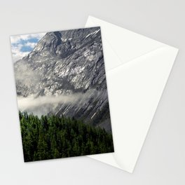 Remnants of Morning Fog in Canadian Rockies Stationery Cards