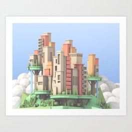 Floating City #2 Art Print