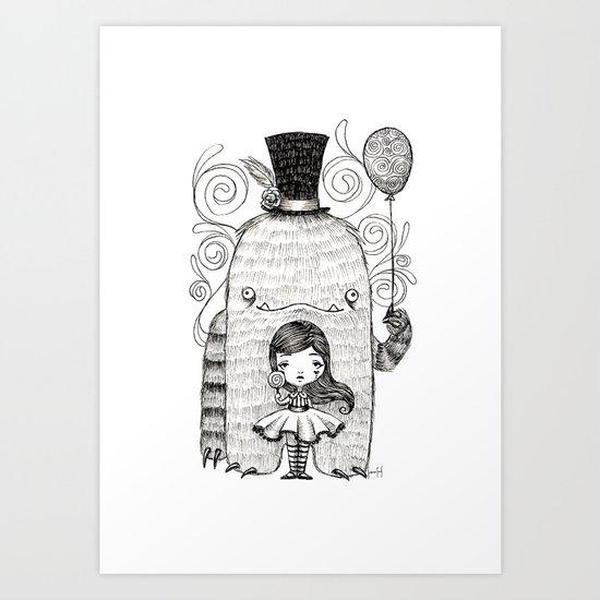 My Monster Friend Art Print