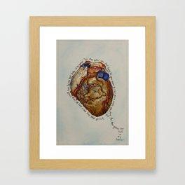 Hole in my Heart Framed Art Print