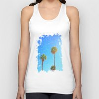 palms Tank Tops featuring Palms by Tonya Doughty