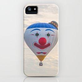 Smiling Clown - hot air balloon iPhone Case