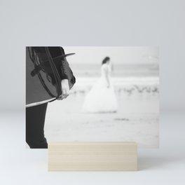 catch a wave and love Mini Art Print