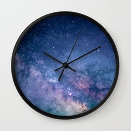 Milky Way Stars (Starry Night Sky) Wall Clock
