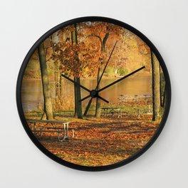 Autumn's End Wall Clock