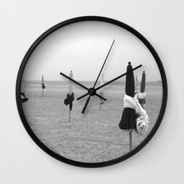 Deauville beach Wall Clock