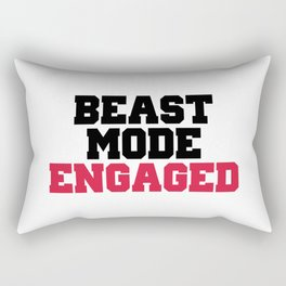 Beast Mode Engaged Gym Quote Rectangular Pillow