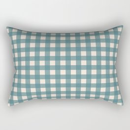 Buffalo Check Plaid in Teal and Cream Rectangular Pillow