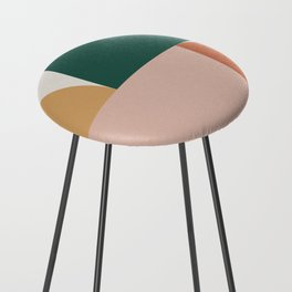 Abstract Geometric 11 Counter Stool