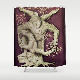 Entangled - Gold & Burgundy Shower Curtain