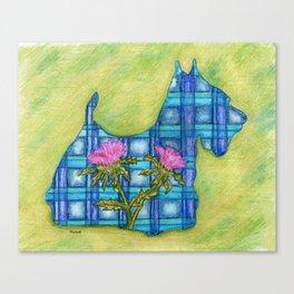 Scottish Terrier Silhouette Canvas Print
