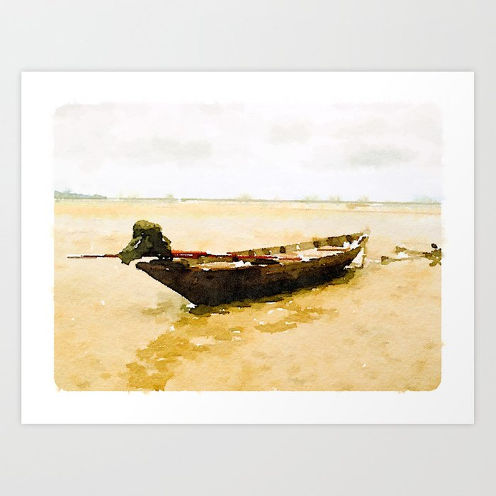 Low Tide in Thailand Art Print