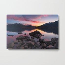 Patagonian sunset Metal Print