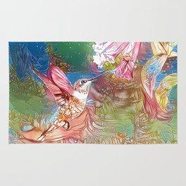 Fairy Hummingbird Rug