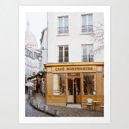 Cafe Montmartre - Paris Travel Photography Art Print