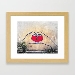 Love (edited) Framed Art Print