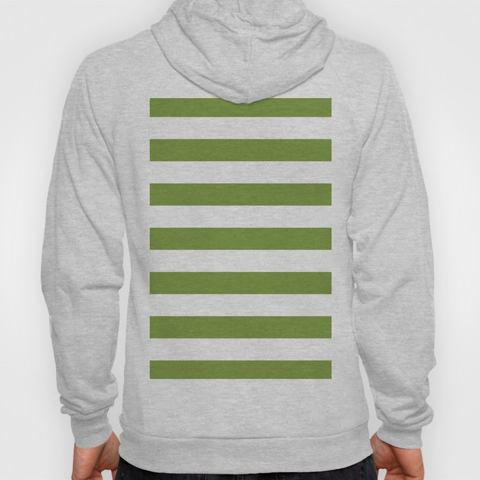 Green and White Stripes Hoody
