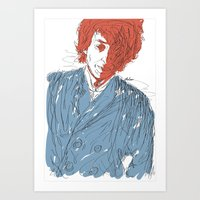 dylan Art Prints featuring Dylan by Alec Goss