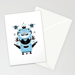 Blue and black totem fun Stationery Cards