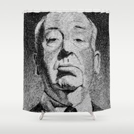 Fingerprint - Hitchcock Shower Curtain