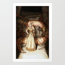 The Midwife and the Lindworm Art Print