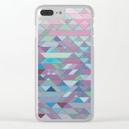Triangle Pattern no.3 Violet Clear iPhone Case