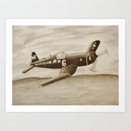 Marine Airplane Art Print