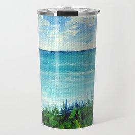 Monet's Seaside Overlook Modern Impressionist Acrylic Painting Stefanie Hanslik Fox Travel Mug