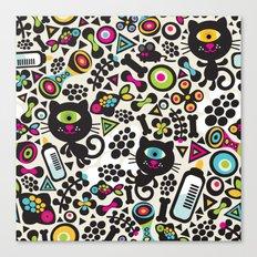 Black cats. Canvas Print