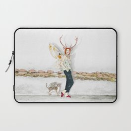 Deer Woman and Butterfly Cat Laptop Sleeve