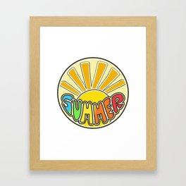 Summer ticker, Summer design, beach sticker, colorful sticker, sunshine Framed Art Print