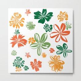 flowers-4colors-1-large Metal Print