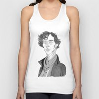 benedict cumberbatch Tank Tops featuring Benedict Cumberbatch - Sherlock by Andy Christofi