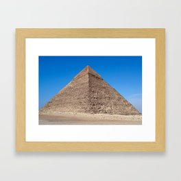 Pyramid of Cheops - Cairo, Egypt Framed Art Print