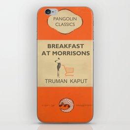 Breakfast at Morrisons - vintage book cover spoof iPhone Skin