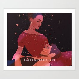 Greek Mythology Hades & Persephone Art Print
