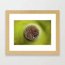 Green Whirl Framed Art Print