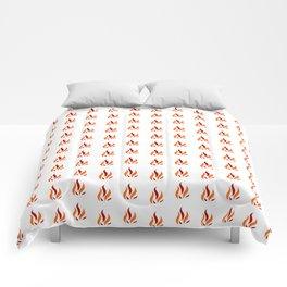 Flame Pattern Red Orange Comforters