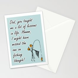 #4/5 Father Fishing Lesson (hand-drawn) Stationery Cards