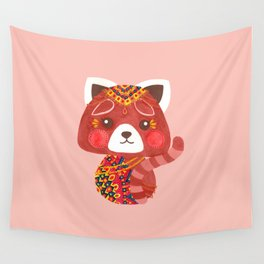Jessica The Cute Red Panda Wall Tapestry