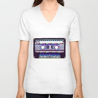 tape V-neck T-shirts featuring Mix Tape # 10 by Bianca Green