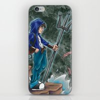 percy jackson iPhone & iPod Skins featuring Percy Jackson, the son of Poseidon by Yuri Meister