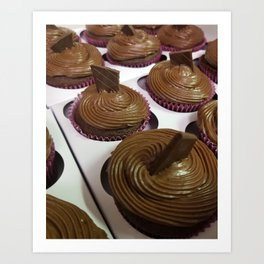 Aztec Chile chocolate cupcakes Art Print