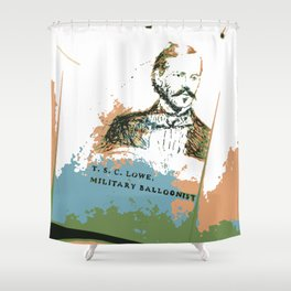 T. S. C. Lowe - Military Baloonist Shower Curtain
