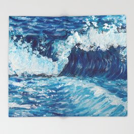 Crest of a Wave Throw Blanket